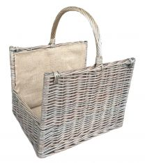 Antique Wash Willow Open End Basket