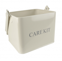 Cream Metal Care Kit Carry Box