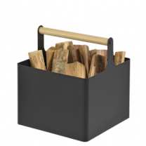Dixneuf Metal Log Holder with Wooden Handle