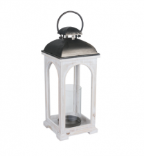 Large white wooden lantern