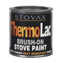 Stovax thermolac brush on stove paint black matt finish