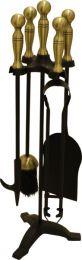 Black & Antique Ball Top Companion Set