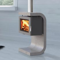Ekol Adept Concrete Suspense Woodburner