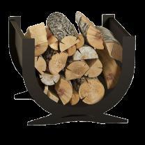 Curved log holder