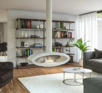 Budapest Ceiling Mounted Bioethanol Fire