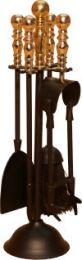 Black & Solid Brass Duchess Companion Set