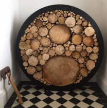 Large Circular Steel Log Holder