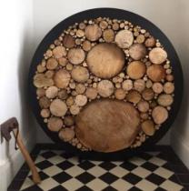 Large Circular Steel Log Holder