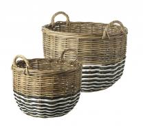 Parlane Dakota Set of Two Log Baskets
