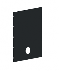 Dixneuf Heat Shield in black with air outlet