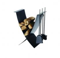 Dixneuf Ekiss Log Holder & Fire Tools