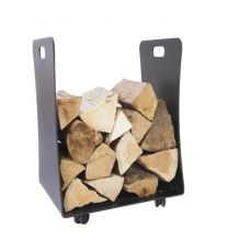 Thorney log store on wheels - Powder coasted metal indoor log store
