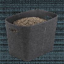 Dixneuf Grey Felt Log Basket