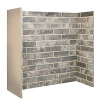 Ceramic Brick Bond Chamber Grey 3 piece