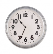Garden Trading Indoor / Outdoor Galvanised Wall Clock