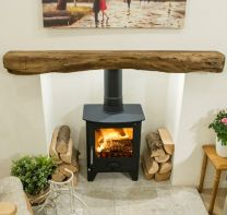Newman Fireplace Hartland oak effect stone beam