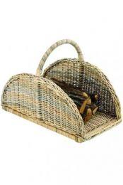 Jonka Natural Rattan Fire Wood Basket