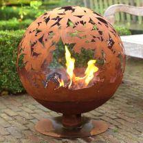 Leaves Fire Globe