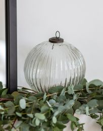 Garden Trading Murrine Bauble, Large - Clear