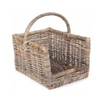 Medium Rattan Open Ended Log basket