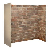 Ceramic Brick Bond Chamber Red 3 piece