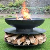 Large ring of logs - outdoor fire pit - 90cm diameter