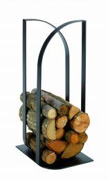 Confluens metal log holder in black
