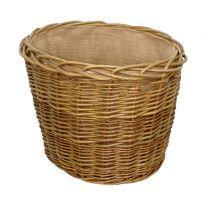 Small Green Ash Oval Log Basket