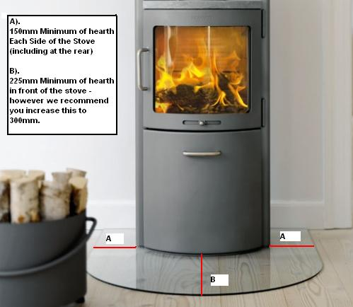 Heat Resistant Glass Multi-Fuel Glass Wood-burner Glass Cut to Size