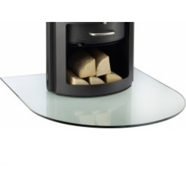 Semi Circle Glass Hearth